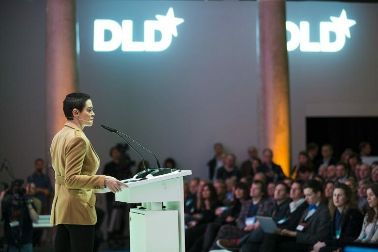 Rose McGowan, DLD, award ceremony