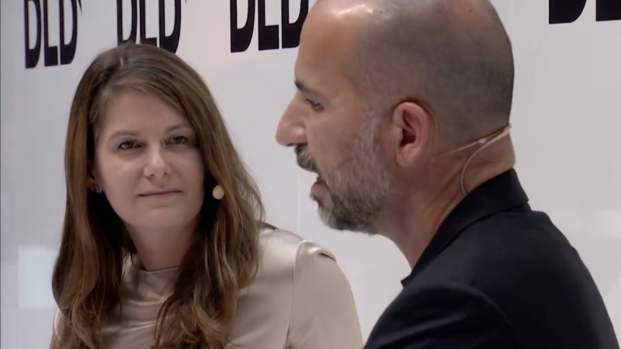 Uber CEO Dara Khosrowshahi, interviewer Tanit Koch, DLD Munich 2018.jpg