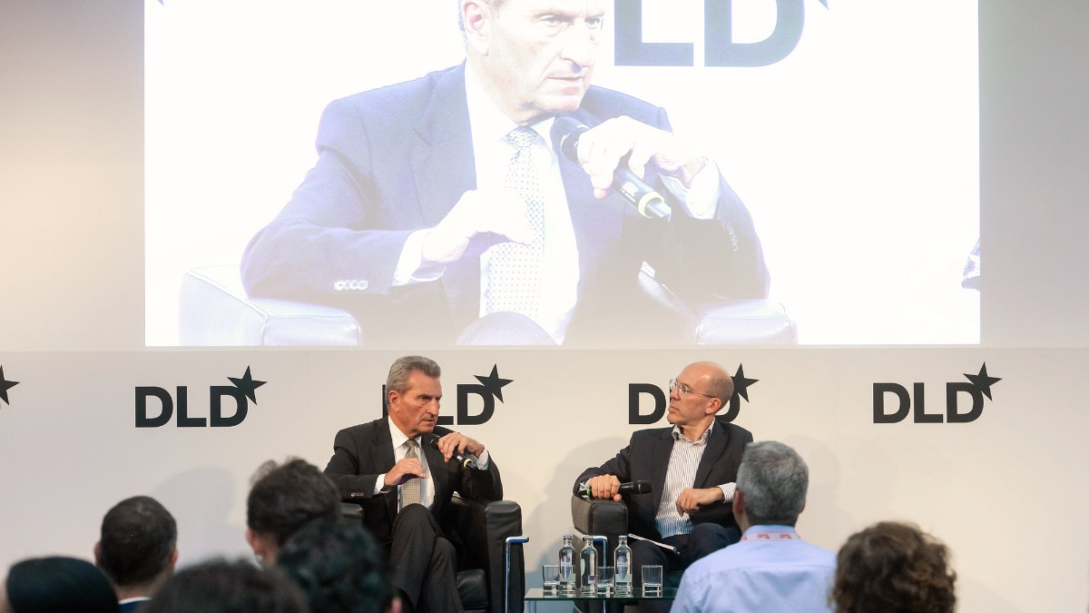 Günther H. Oettinger, European Commissioner, DLD Europe 2019