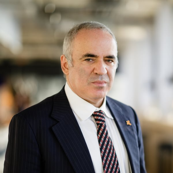 Garry Kasparov, chess champion, AI, artificial intelligence, cyber crime, defense