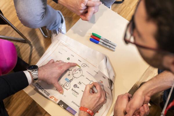 drawing, brainstorming, workshop, DLD20