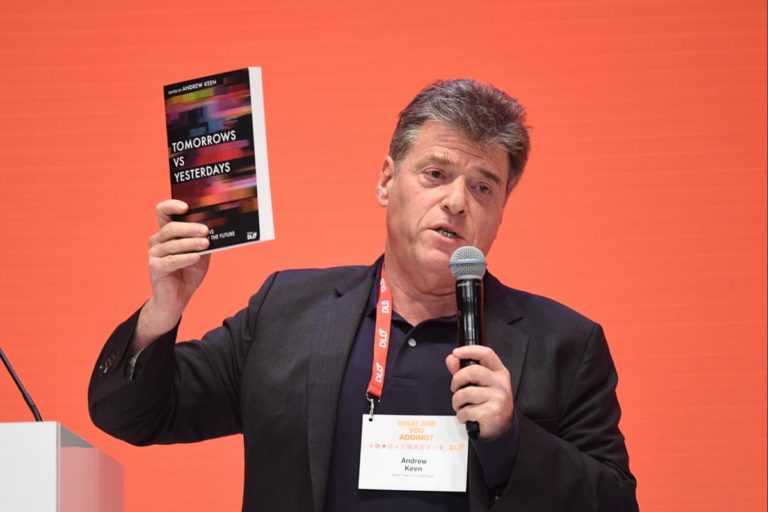 Andrew Keen, book talk, DLD conference