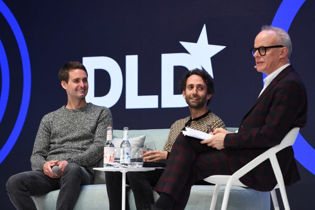 Alex Israel, Evan Spiegel, DLD talk, art, technology, Obrist