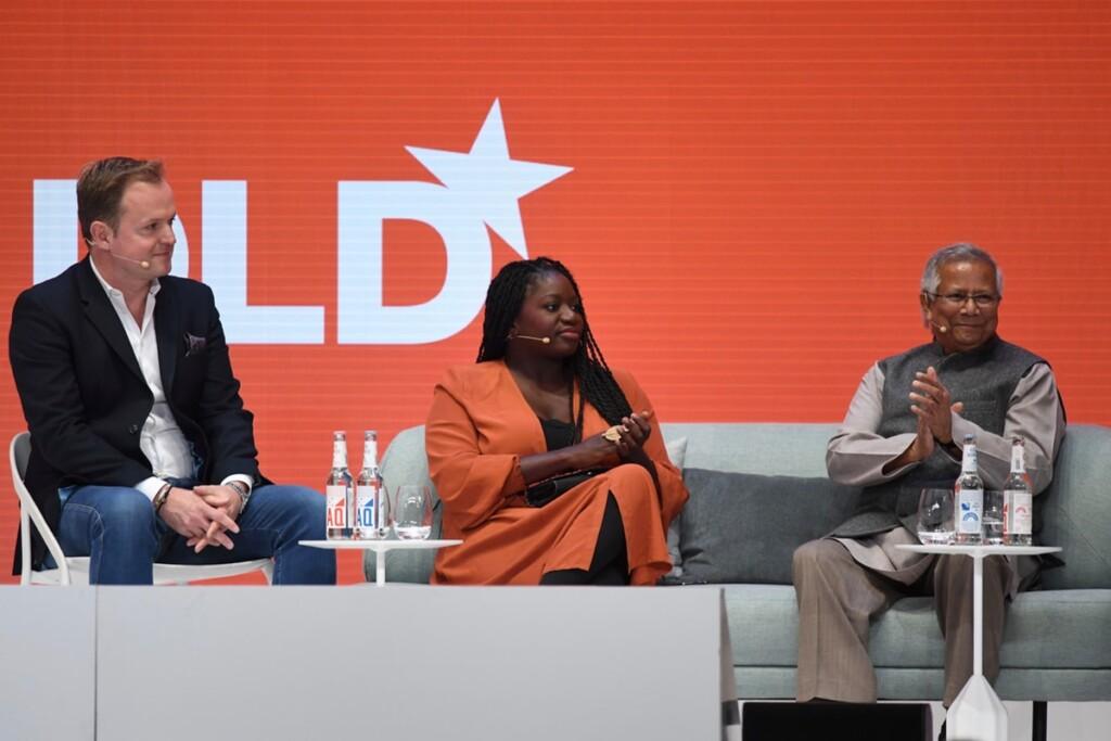 Fatoumata Ba, Muhammad Yunus, Peter Backenecker, DLD, social businesses