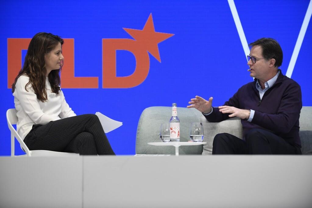 Tanit Koch, Nick Clegg, Facebook, DLD Munich 2020