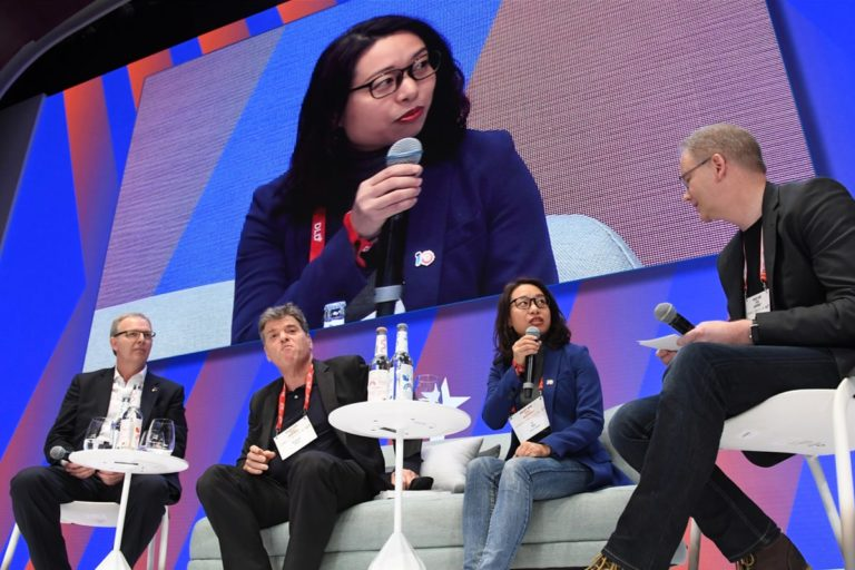 Axel Voss, Li Xin, Andrew Keen, Carsten Knop, digital sovereignty, panel discussion, DLD