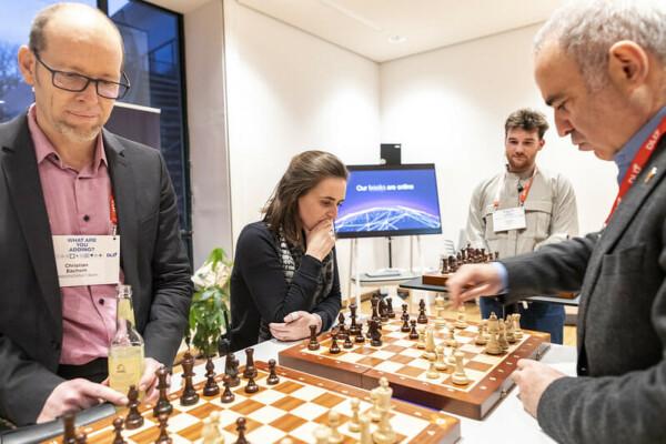 Garry Kasparov, chess tournament, DLD Munich 2020