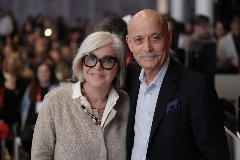 Steffi Czerny, Managing director of DLD Media, Jeremy Rifkin, Foundation on Economy Trends