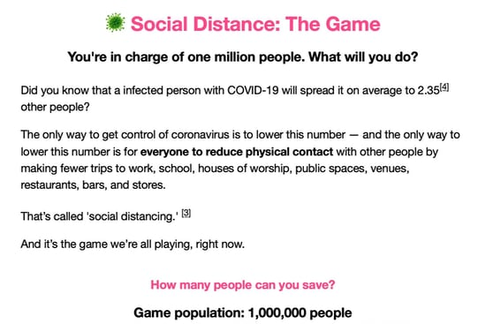 Social Distance The Game, screenshot