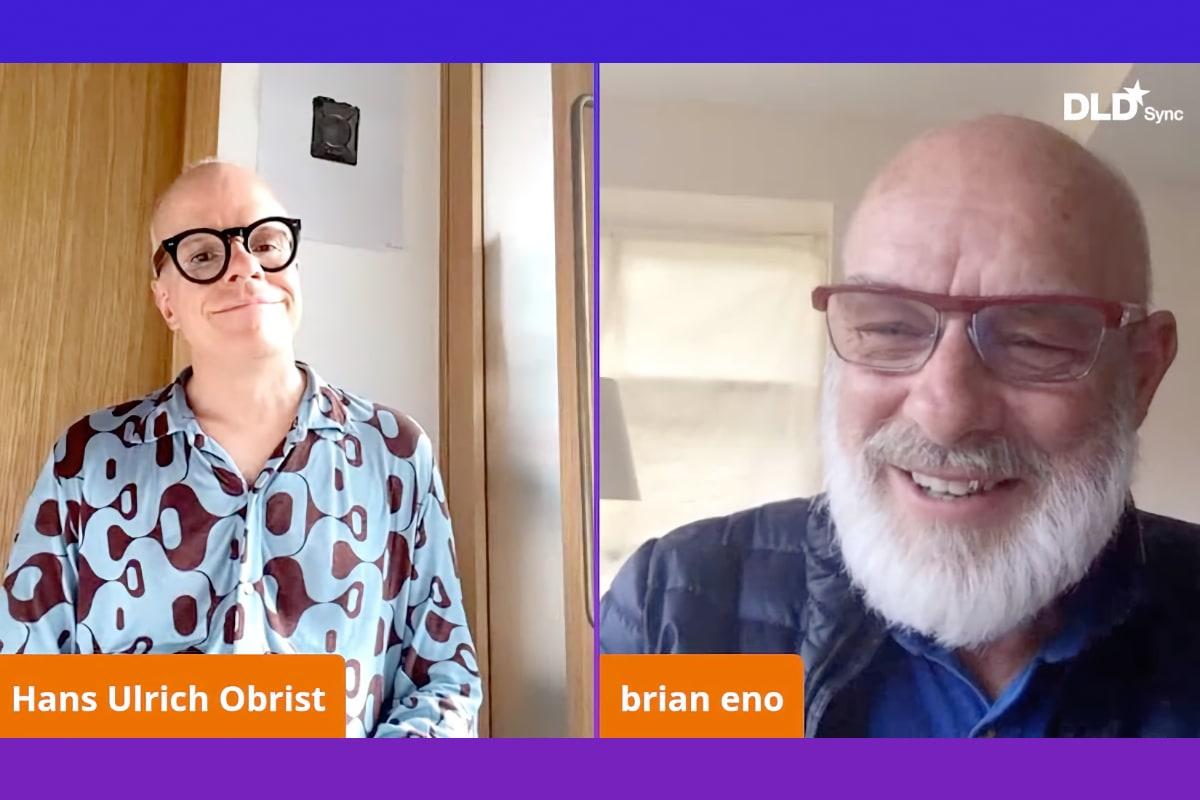 Brian Eno, musician, philosopher, Hans Ulrich Obrist, webinar, video