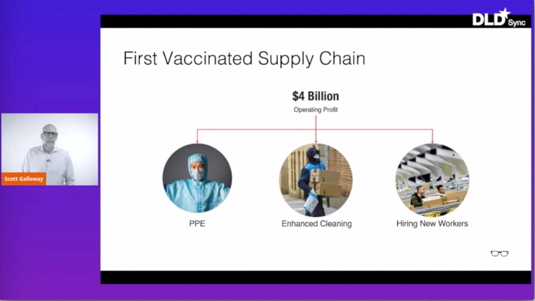 Scott Galloway, DLD Sync, Amazon, vaccinated supply chain