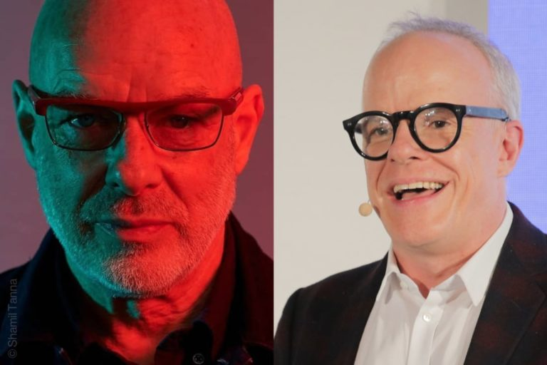 Brian Eno, musician, producer, Hans Ulrich Obrist, Serpentine Galleries