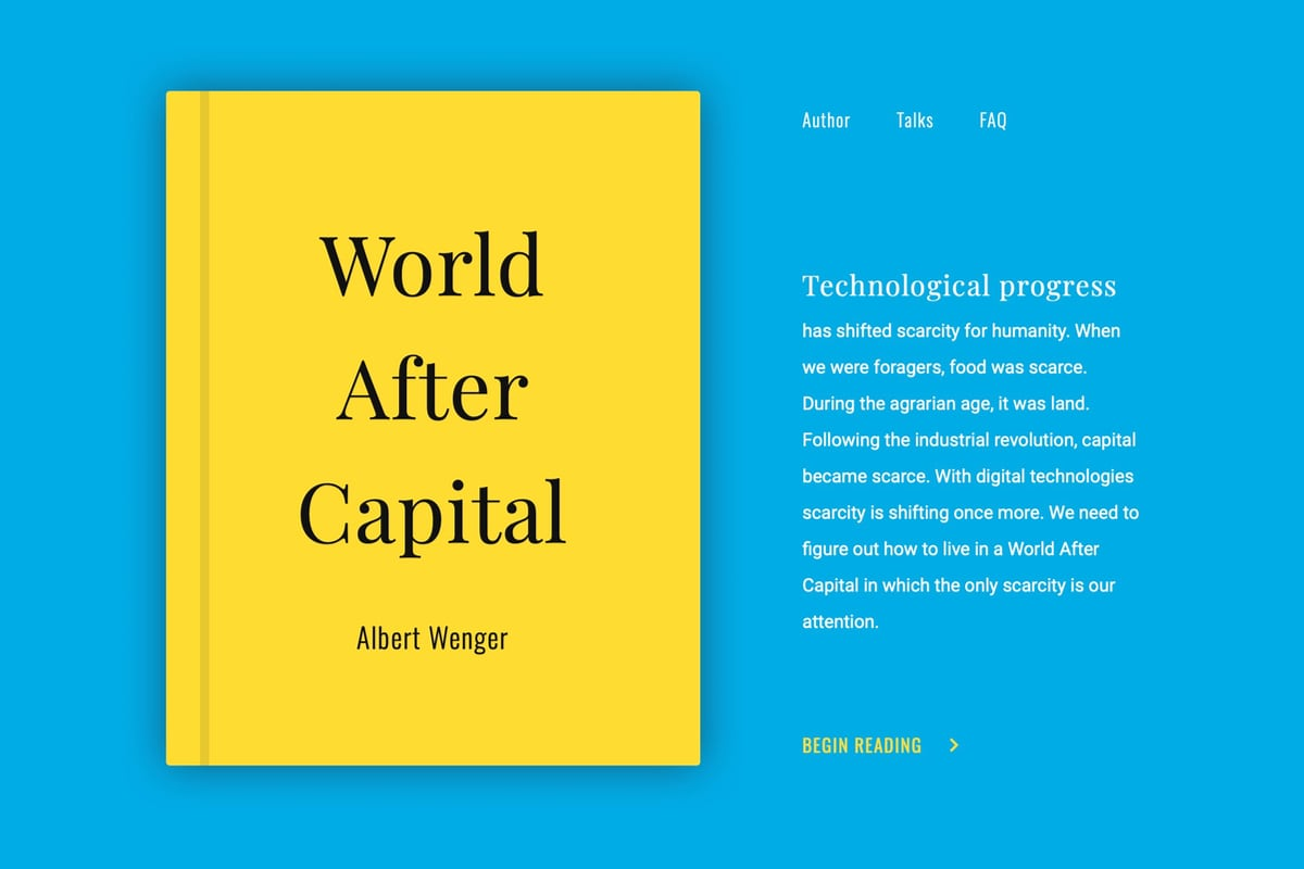 Albert Wenger, book, World After Capital