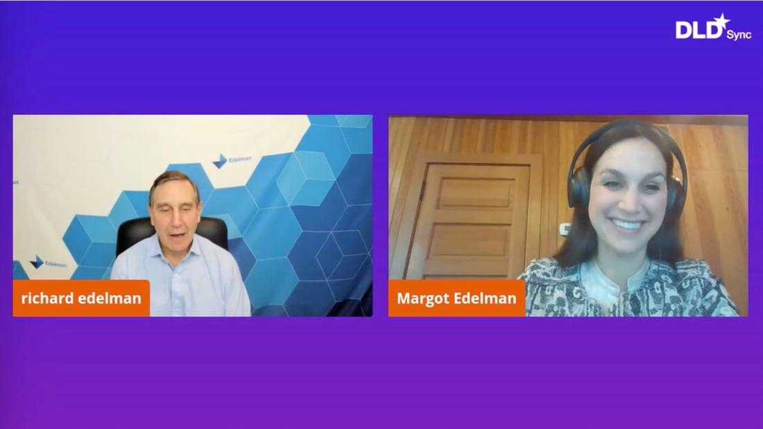 Richard Edelman, Margot Edelman, DLD, webinar, DLD Sync