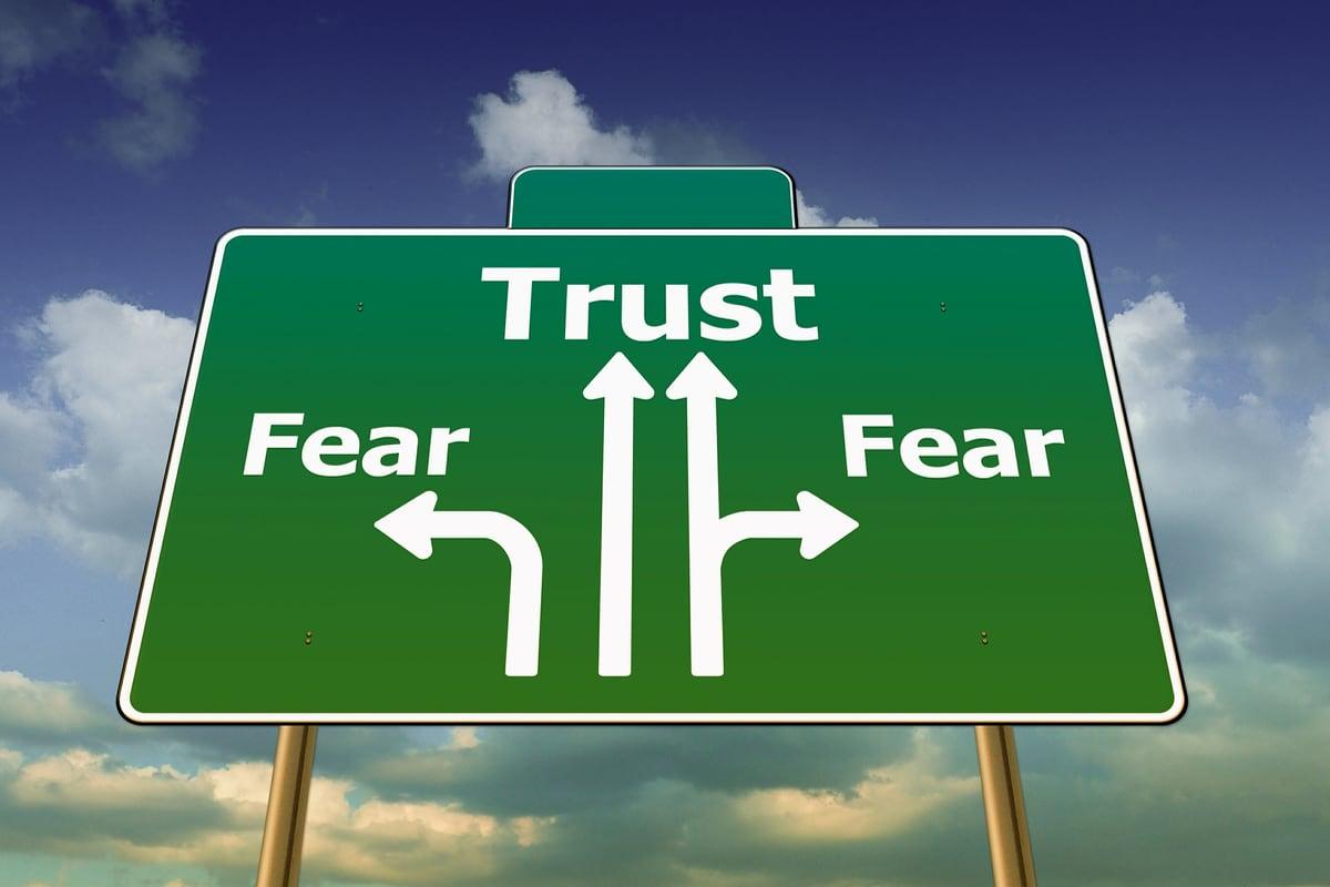 Trust, fear, symbolic image