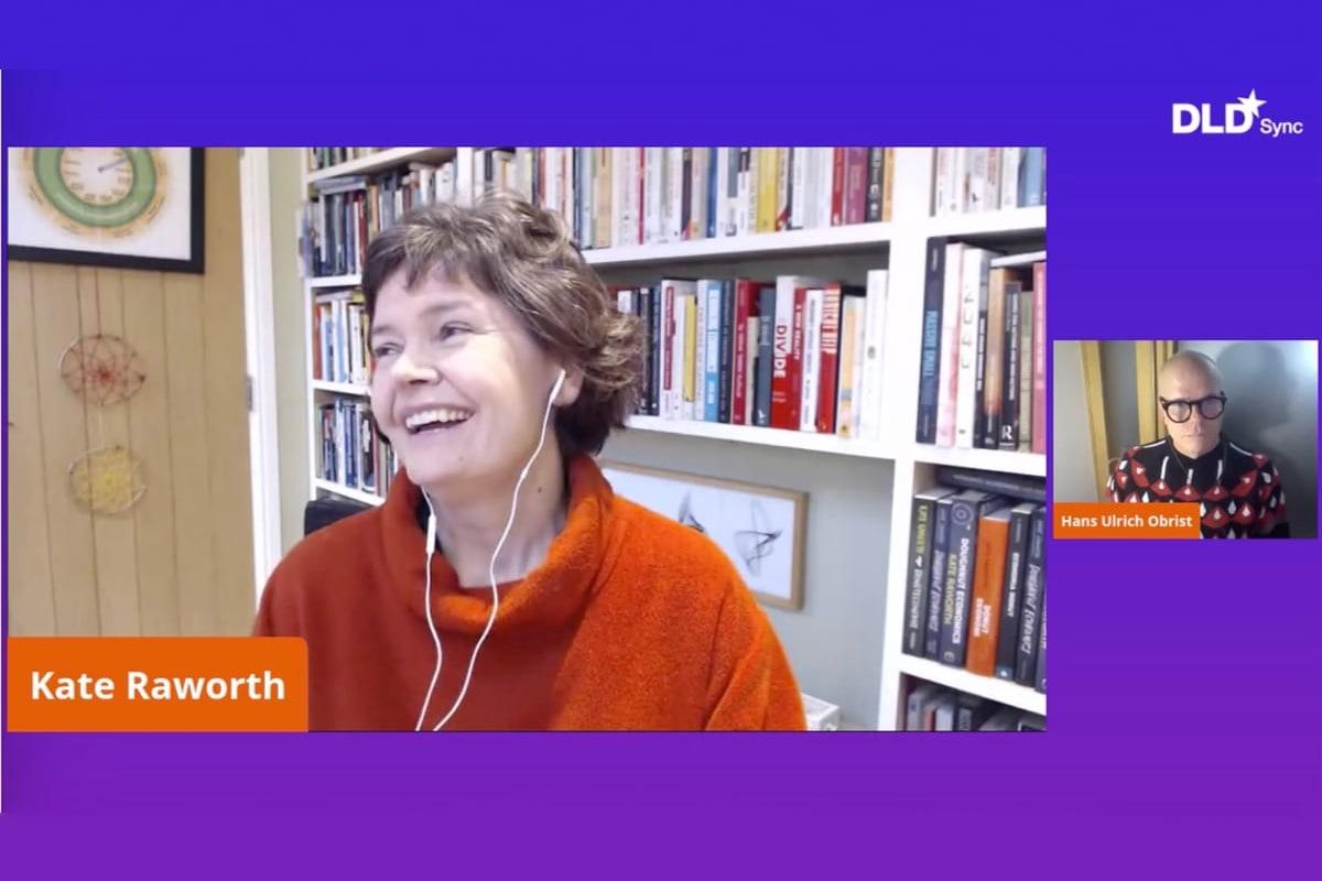 Kate Raworth, economist, Hans Ulrich Obrist, DLD Sync