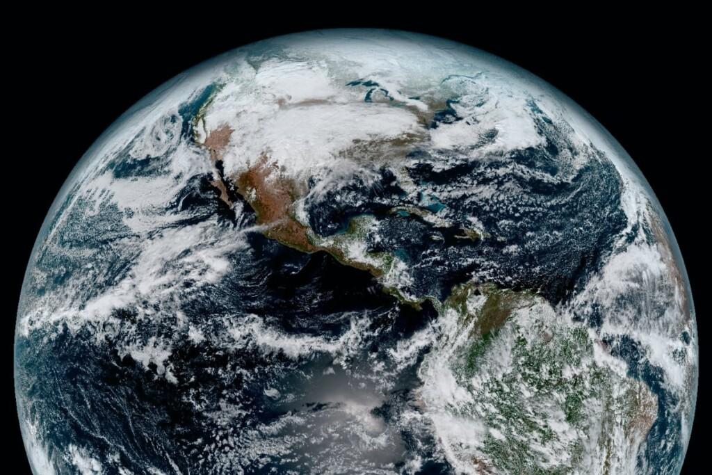 NASA, Earth, globe, satellite image