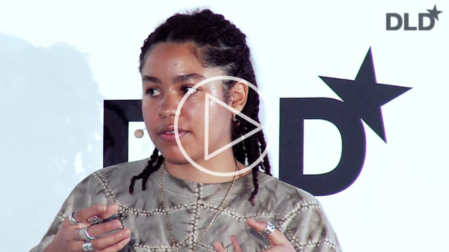 Tau Lewis, artist, DLD, Munich, 2020, talk