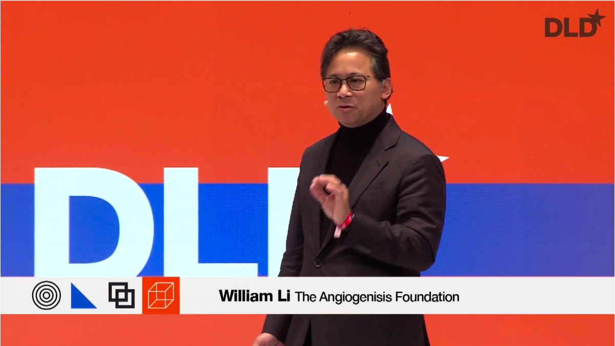 Dr. William Li, Angiogenesis Foundation, health food, DLD talk