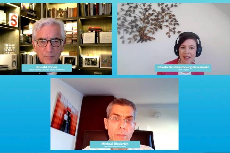 Sir Ronald Cohen, Michael Diederich, Elisabeth Löwenbourg-Brzezinski, impact investing