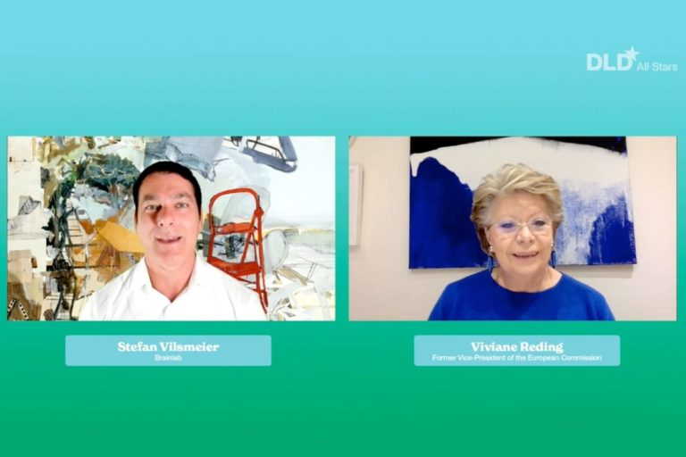 Stefan Vilsmeier, Viviane Reding, DLD All Stars, data, democracy, video