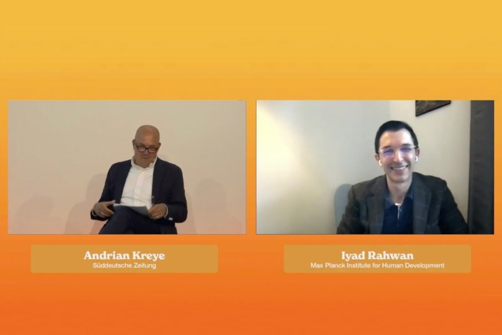Iyad Rahwan, Andrian Kreye, social media, surveillance capitalism, data economy, DLD, talk, video