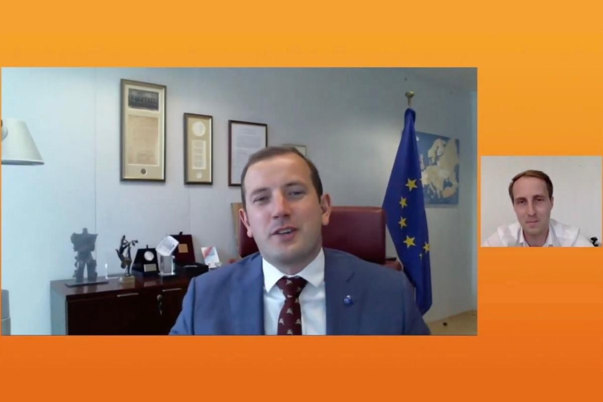 climate change, Europe, opportunity, Virginijus Sinkevičius, Fabian von Heimburg, DLD, video, talk