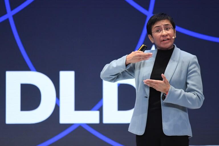 Maria Ressa, Rappler, Nobel Peace Prize, winner, laureate, DLD talk